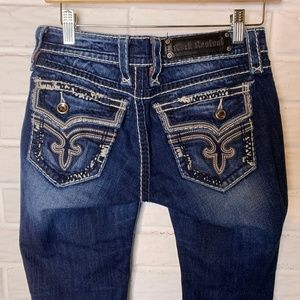 Rock Revival KAL Boot Cut Jeans Size 27 27x33